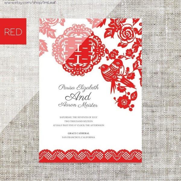Chinese Wedding Invitation Card Wording Template