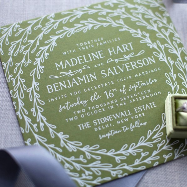 Custom Wedding Invitations By Jen Pepper Of The Chatty Press