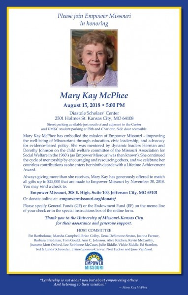Honoring Mary Kay Mcphee