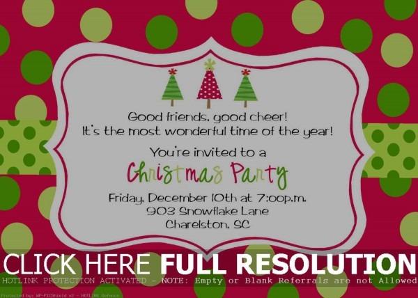 Christmas Invites Printable