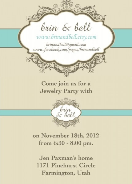 Sample Wording For Jewelry Party Invitation