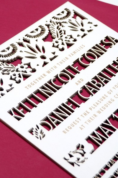 Mexican Cut Out Wedding Invitations Illustrated By Laura Shema For