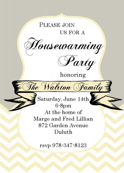 Housewarming Invitations Letter