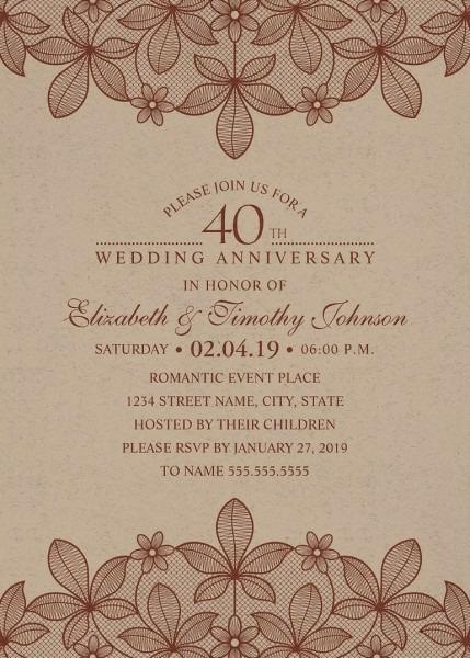40th Anniversary Invitations Archives
