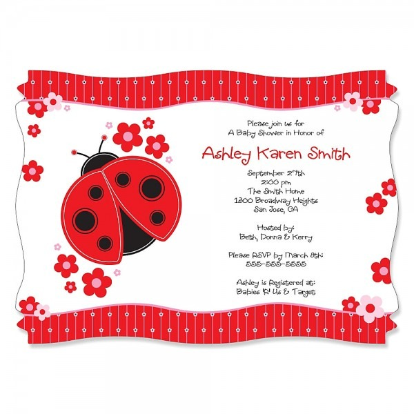 Awesome Lady Bug Baby Shower