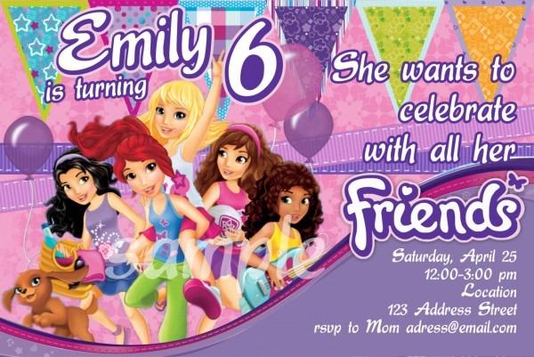 Lego Friends Birthday Party Invitations – Invitation Templates
