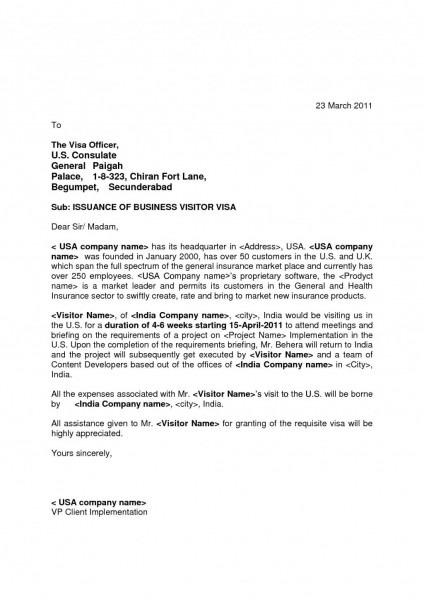 Letter Format Invitation For Visitor Visa Best Australia Tourist
