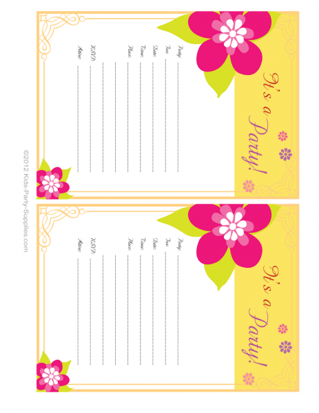 54 Lovely Luau Invitations