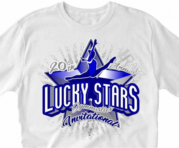 Lucky Star Gymnastics Invitational, Vector Logo Design Download