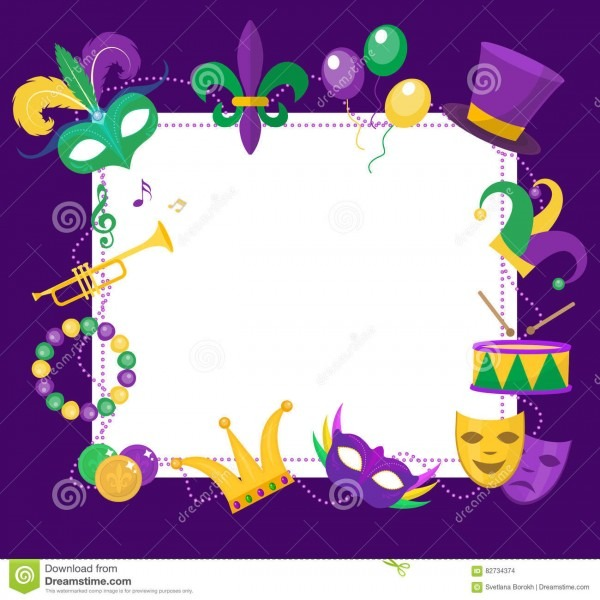 27 Images Of Mardi Gras Blank Template