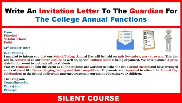 How To Write An Invitation Letter To The Guardian For The College