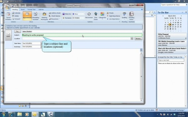 How To Invite Someone To A Meeting [outlook Tutorial]