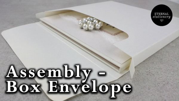 How To Assemble Our Invitation Box Envelopes