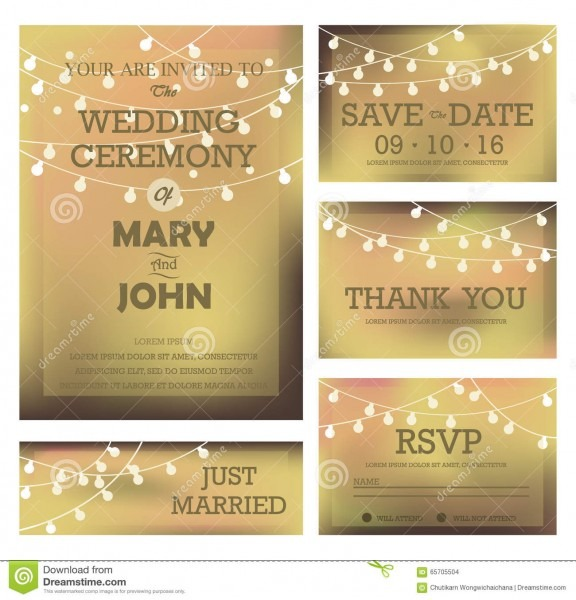 Modern Wedding Invitation Card Stock Vector