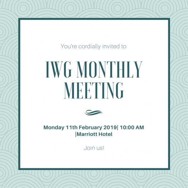 11th February Monthly Meeting