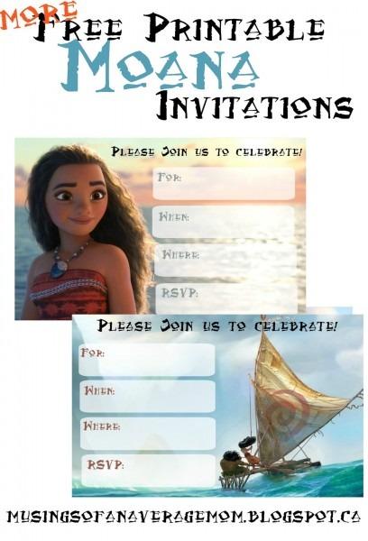 95+ Blank Moana Birthday Invitations