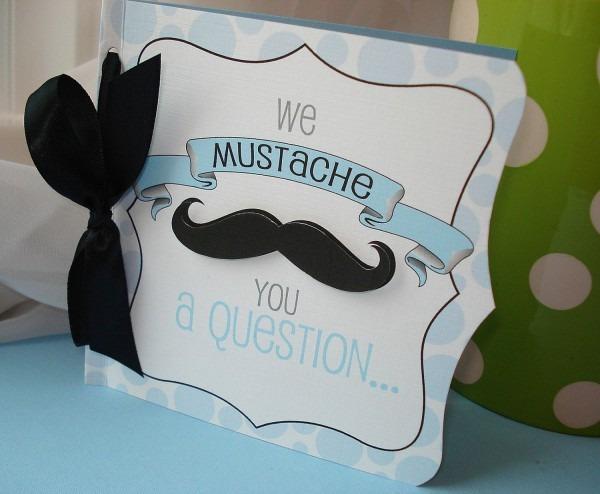 Baby Shower  Baby Shower Mustache  Black Mustache Baby Shower