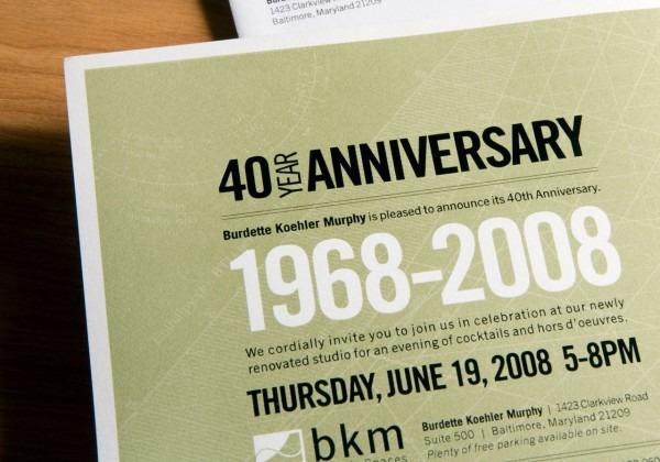 Office Anniversary Invitation Card Best Of 40th Anniversary