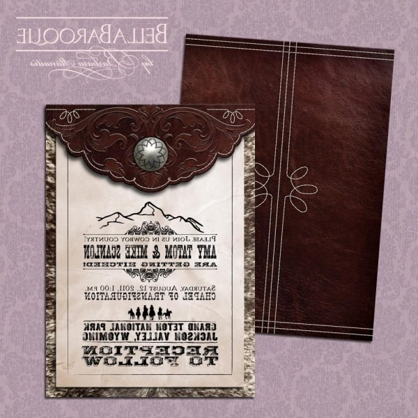 Eliya's Blog  Old West Wedding Invitation