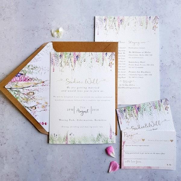 Whimsical' Wedding Invitation By Julia Eastwood