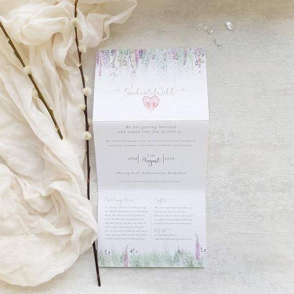 Whimsical' Concertina Fold Wedding Invitation By Julia Eastwood