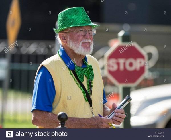 Orlando, Fl, Usa  17th Mar, 2016  A Volunteer Wearing His Irish