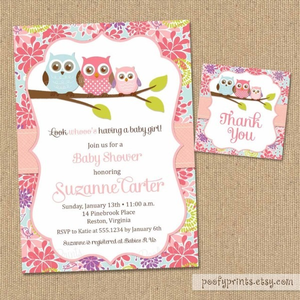 Owl Baby Shower Invitations Diy Printable Baby Girl Duravit Shower