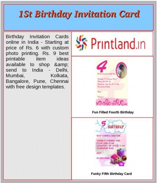 1st Birthday Invitation Card By Shivapandey533
