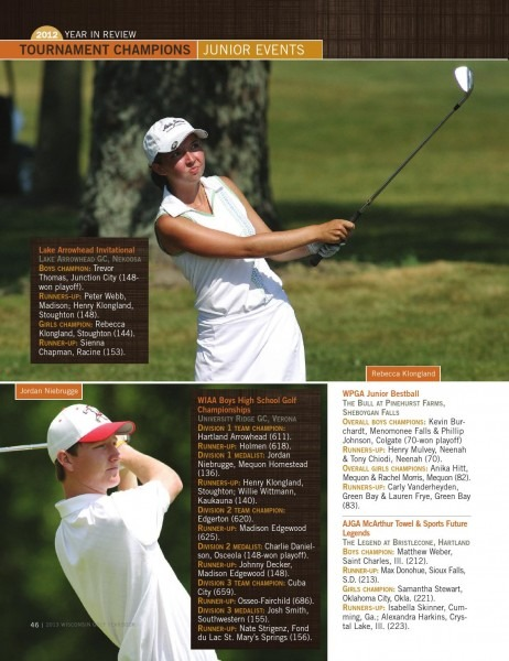 2013 Wisconsin Golf Yearbook And Directory Of Courses By Killarney