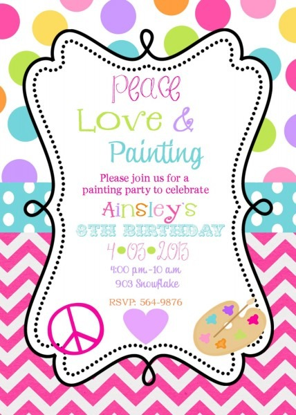 Painting Party Invitations Painting Party Invitations With