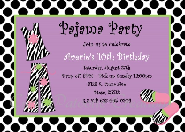 27 Images Of Template Birthday Invite Pyjama Party