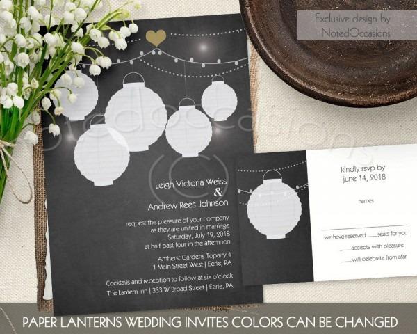 Paper Lantern Wedding Invitations Rustic Paper Lantern Wedding