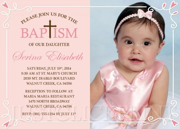 Girls Peachy Pink & Brown Baptism Dedication Christening