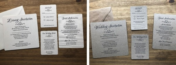 Personalised Wedding Day Evening Invitation Pack Of 10 Vintage