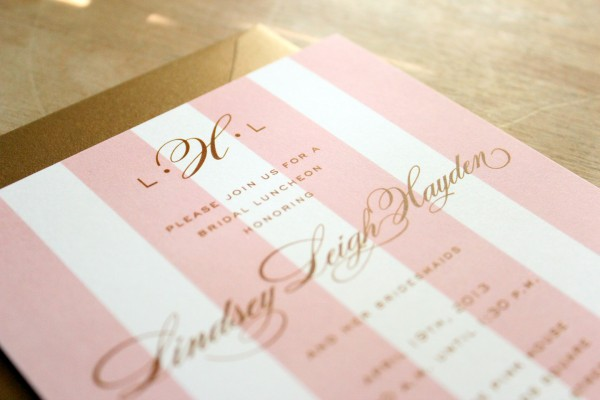 Pink And Gold Bridesmaid Luncheon
