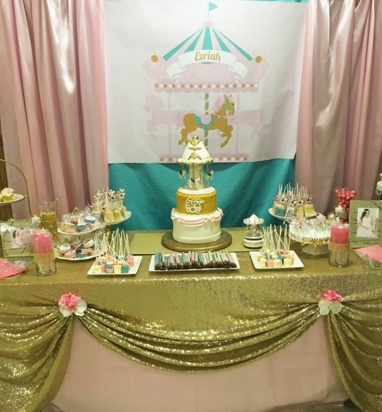 Baby Shower  Pink Gold Baby Shower  Pink And Gold Baby Shower