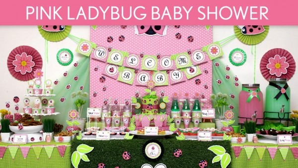Contemporary Pink Ladybug Baby Shower Cake 8 Decor Inspired By