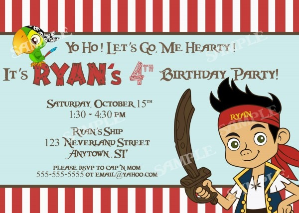 Birthday Invitations Templates Pirate Birthday Invitations