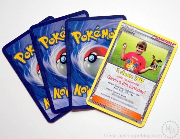 Pokémon Card Birthday Invitation