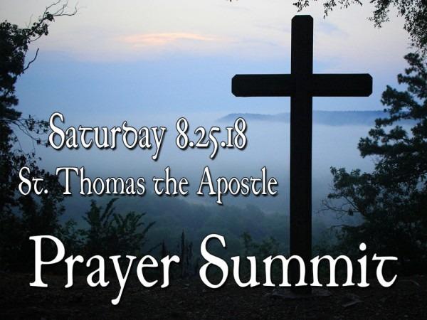 Prayer Summit! – St  Thomas The Apostle Catholic Church