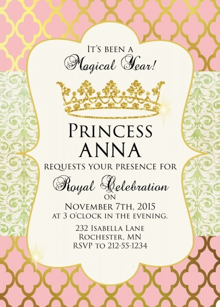 28 Images Of Gold And Pink Princess Baby Shower Invitations