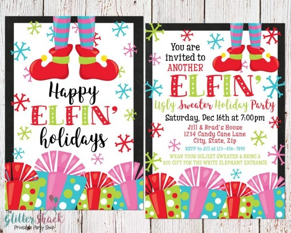 Ugly Christmas Sweater Party Invitations For The Most Fugliest And