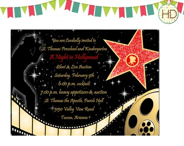Printable Hollywood Party Invitations