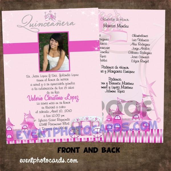 Formal Quinceanera Invitations
