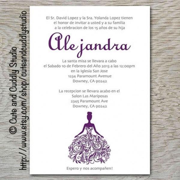 Quinceanera Invitation Wording In English