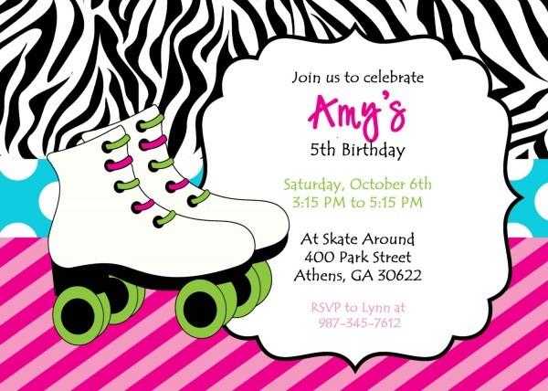 Roller Skate Invitations Printable