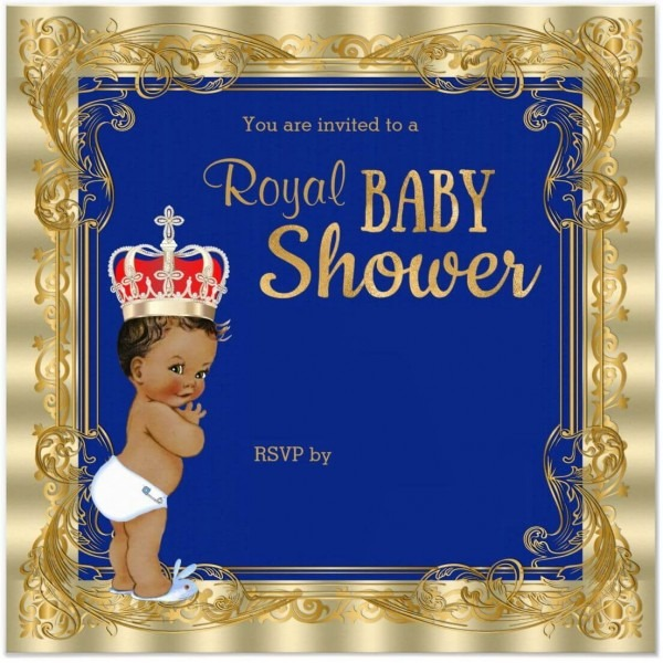 Royal Fancy Design Free Royal Prince Baby Shower Invitation