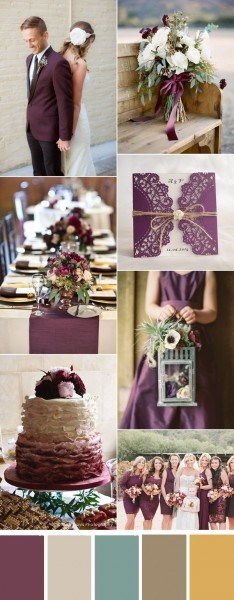Eight Most Popular Plum Purple Invitations By Elegant Wedding