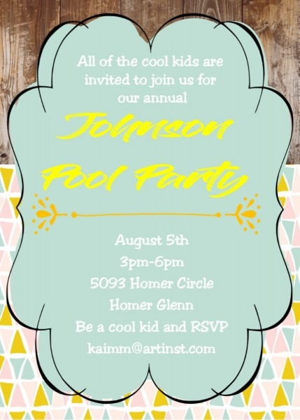 Pool Party Invitations New Selections Winter 2018