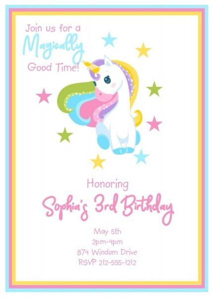 Children's Birthday Party Invitations